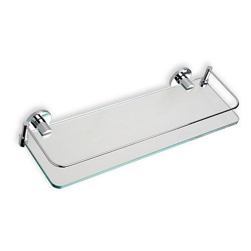 - Nameeks 819-08 Mounted Clear Glass Bathroom Shelf, Chrome