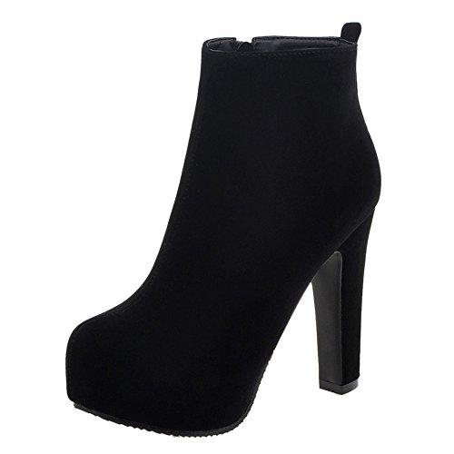 Plateforme RAZAMAZA Chaudes Femmes Bottes Black zwWxqZExY8