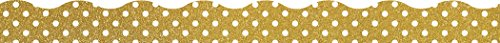 Gold Shimmer with White Polka Dots Clingy Thingies Borders