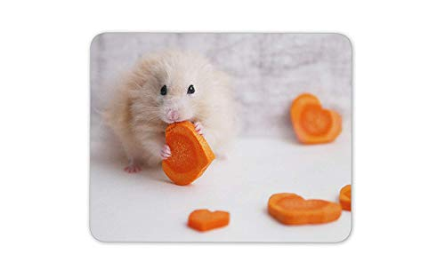 Cute Hamster Love Heart Mouse Mat Pad - Animal Lover Fun Gift PC Computer