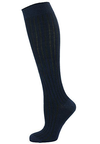 Mysocks Unisex Knee High Long Socks Navy Ribbed by MySocks (Image #1)
