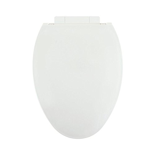 Centoco 1700SC-301 Plastic Elongated Toilet Seat with Closed Front, Crane White by Centoco