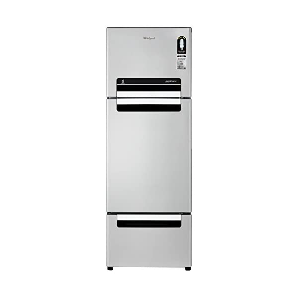 Whirlpool 240 L Frost Free Multi-Door Refrigerator(FP 263D Protton Roy, Alpha Steel) 2021 August Frost Free, Multi-Door: Auto defrost to stop ice-build up Capacity 240 L: Suitable for families with 2-3 members Warranty: 1 year on product, 10 years on compressor