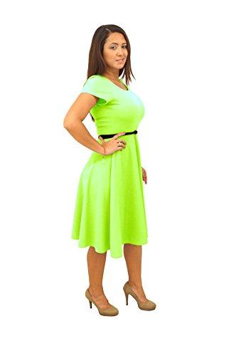 neon green dress - 8