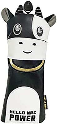 SM SunniMix Cow Driver Head Cover Water-Proof Fit Driver Fairway Wood Hybrid Golf Head Covers Fits Universal D