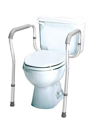 Carex Toilet Safety Rails - Toilet Safety Frame For Elderly, Handicap,