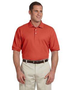 Devon & Jones Men's Pima Piqué Short-Sleeve Polo 3XL RUST Devon And Jones Cotton Shirt