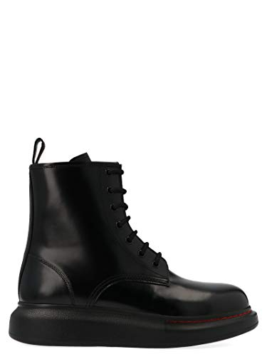 Alexander McQueen Women's 586394Whx511000 Black Leather Ankle Boots