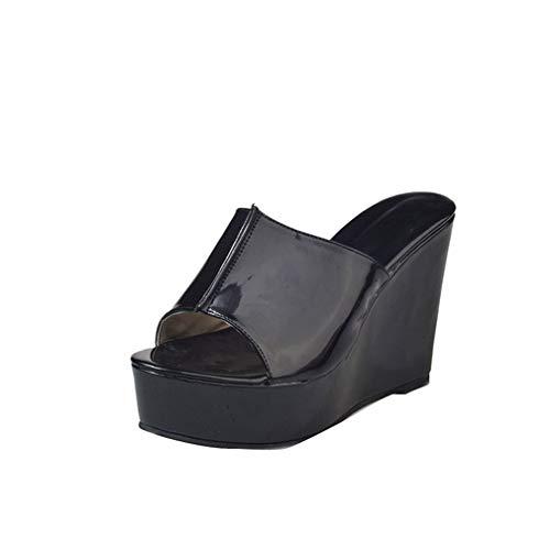 Black Pantoufles pour YUCH De Poisson Femmes 7ZdwXxnq6