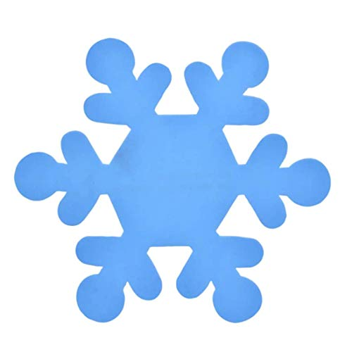 12 Crafter's Square Foam Shapes 8 Inches Tall (Blue Snowflake)]()