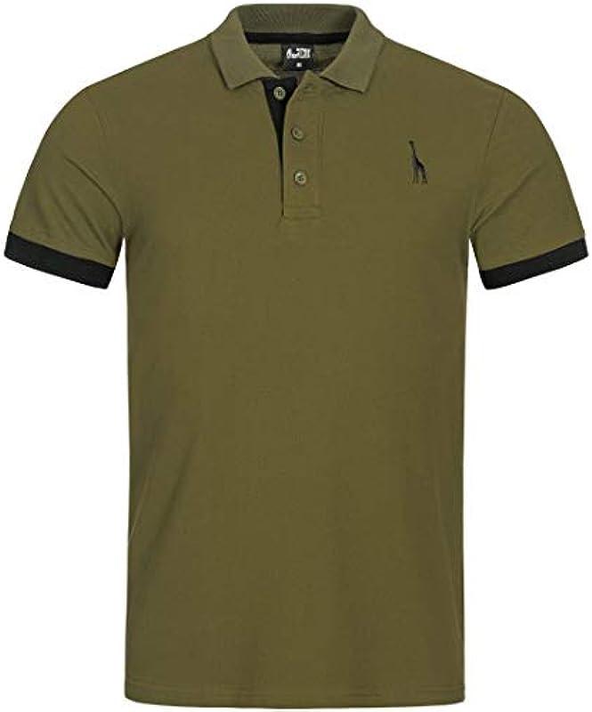 Code47 Męska koszulka polo Basic z krÓtkim rękawem, jednokolorowa, krÓj slim fit, koszulka polo: Odzież