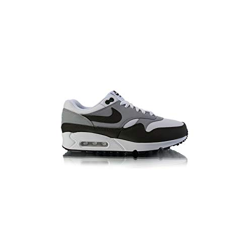 Nike Men's Air MAx 90/1 White/Cargo Khaki-Black AJ7695-107 (Size: 12)