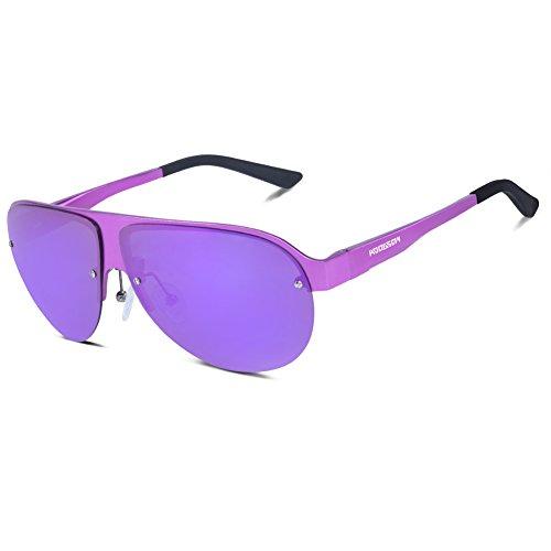 HODGSON Aviator Polarized Sunglasses for Men Women, AL-MG Frame Unbreakable - Lenses Sunglasses Hodgson