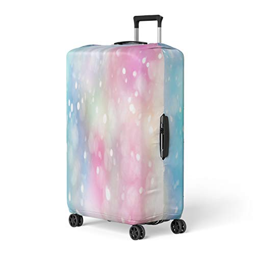 Pinbeam Luggage Cover Rainbow Pastel Lens Bokeh Effect Colorful Spot Blur Travel Suitcase Cover Protector Baggage Case Fits 26-28 ()