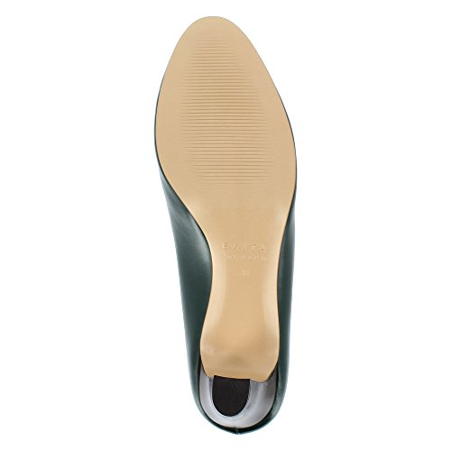 Femme Foncé Bianca Vert Shoes Lisse Cuir Escarpins Evita w7S4HFq1w