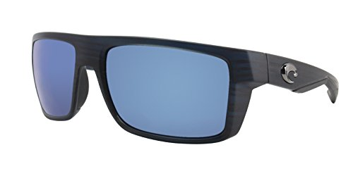 Costa Del Mar Motu Sunglasses, Black Teak, Blue Mirror 580 Glass Lens