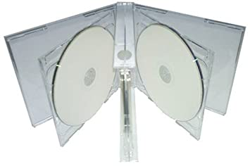 Amazon.com: Mediaxpo Brand 10 Clear Sextuple 6 Disc CD Jewel Case ...