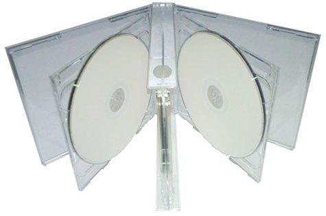 Mediaxpo Brand 10 Clear Quintuple 5 Disc CD Jewel Case