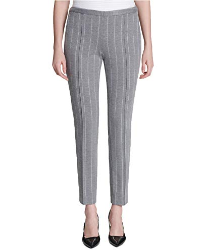 Calvin Klein Women's Pinstriped Ankle Pants (Grey, 4)