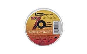Scotch Super 33+ Vinyl Electrical Tape, .75-Inch x 66-Foot x 0.007-Inch