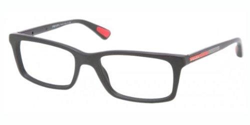 Prada Linea Rossa Men's PS 02CV Eyeglasses Matte Black - Prada Linea Eyeglasses Rossa