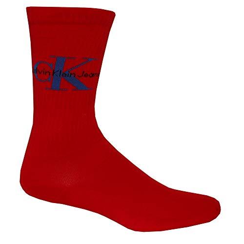 Coton Calvin Logo Cramoisi Jeans Chaussettes Doux Klein Côtes Rouge Homme Pourpre Tr6Yn1qr