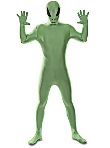 Alien Cat Costume (Deluxe Edition: Green Alien Spandex Catsuit Costume (Men: Small))