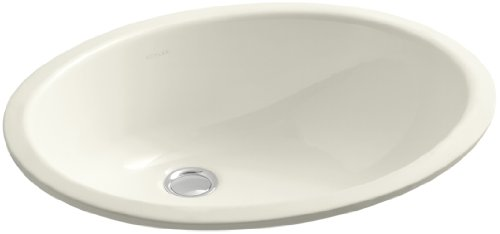 KOHLER K-2210-96 Caxton Under-Mount Bathroom Sink, Biscuit (Kohler Caxton Biscuit)