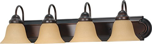 Mahogany 4 Light Vanity Lamp - 1