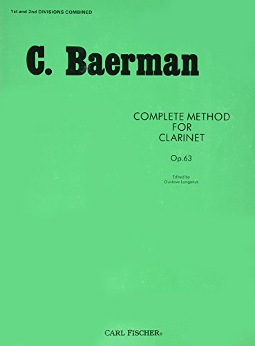 O32 - Complete Method for Clarinet Op. 63 - C. Baerman ()