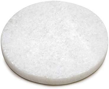 コースター 4枚セット 円形 丸型 ラウンド 大理石 ホワイト マーブル キッチン雑貨 シンプル 大人 リゾート