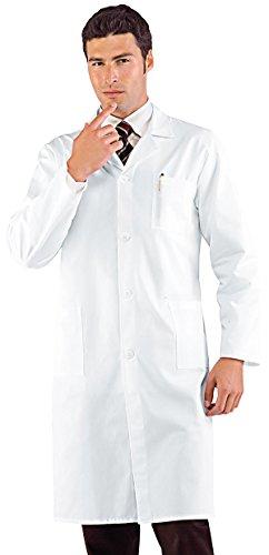 Camice A Isacco S 35 Manica Bottoni Bianco Lunga Poliestere 23220 65 Azzurro Uomo Cotone Pressione TddPqp