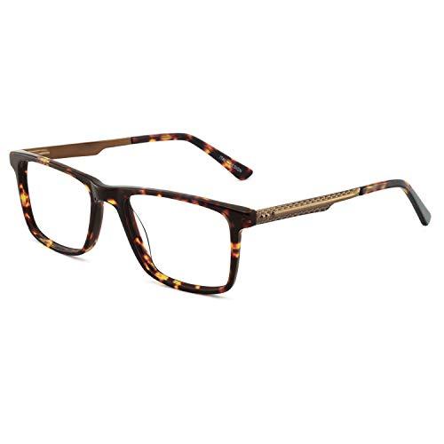 OCCI CHIARI Optical Men's Eyewear Classic Non-prescription Eyeglasses Frame (P-Brown)