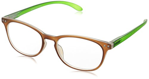 Peepers Womens Glee 099150 Oval Readers BrownGreen 1.5