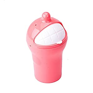 Battletter mini creative car trash can pink home kitchen - Pink kitchen trash can ...
