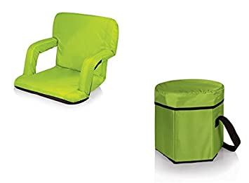 Charmant Picnic Time Ventura Seat And Bongo Cooler Tote   Lime, Set Of 2