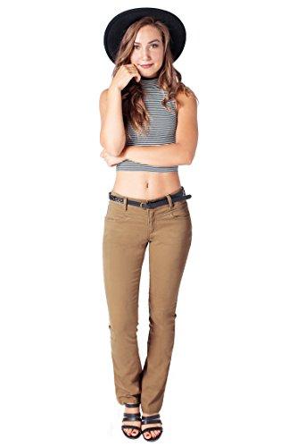 Bebop Women's Bootcut Pant, Khaki, Size 5, Stretch Cotton Twill, Removable (Twill Bootcut Pants)