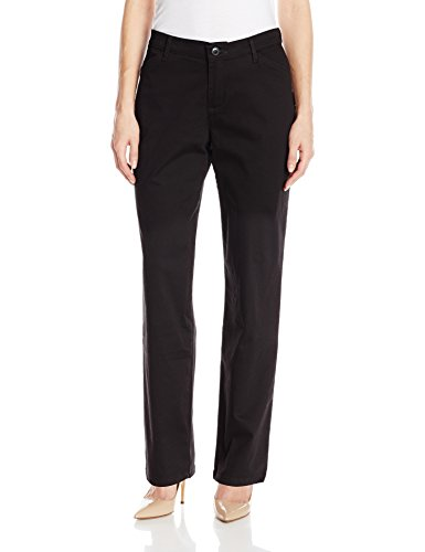 (LEE Women's Relaxed Fit All Day Straight Leg Pant, Black, 8)