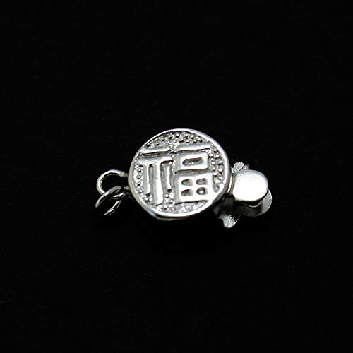 Kamas Hot Fashion 925 Silver Single-Row Buckle Blessing and 925 Sterling Silver Box Clasp 915mm BFS025