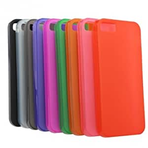Pure Colors Silicone Soft Back Gel Case For iPhone 5 5G 5S & Color = peach red