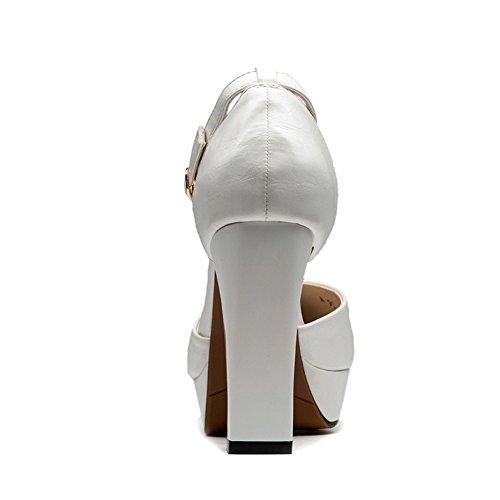 Delle Di Elemento Gioielli Scarpe Spillo Hoxekle Molla Tacchi Forma Pompe Alti Modo Bianco A Nuovi Donne Sexy zn1cpddR