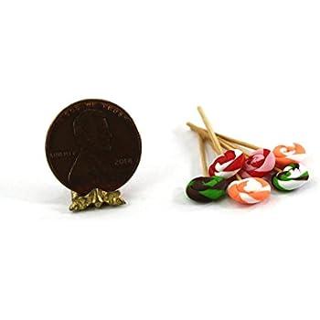 Dollhouse Miniature Set of 5 Lollipops by Multi Minis