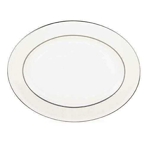 kate spade New York 6383558 Cypress Point Oval Platter, White