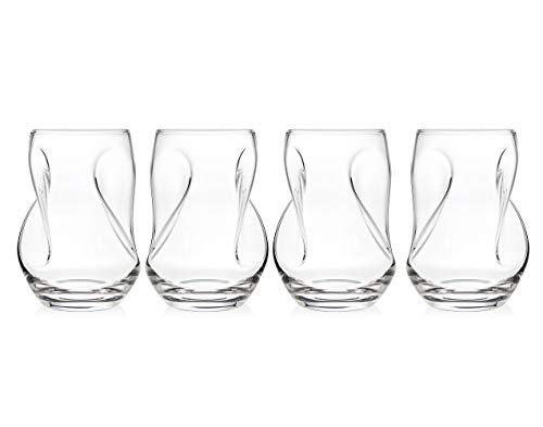 Godinger Pivot Goblet Aerating Tumbler Wine Glass - Set of 4