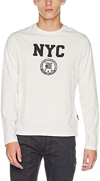 Schott NYC TSLIBERTML Camiseta, Blanco (White 10), XXL para ...