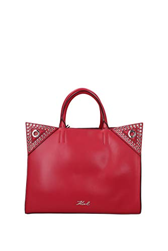 A Donna 81kw3047 Rosso Karl Mano Lagerfeld Borse Pelle zFnE7wq