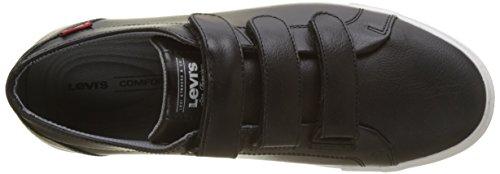 Levis Herren Woods Velcro Sneaker Schwarz (Noir Regular Black)