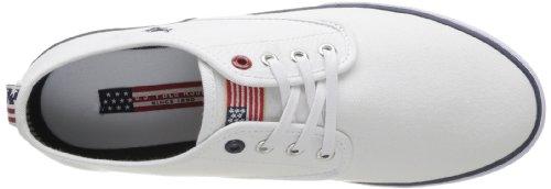 US Polo Assn Hugh Whi - Zapatillas de Deporte de tela hombre Blanco - Blanc (Whi)