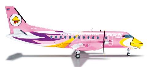 Daron Herpa Nok Air Sf-340 Pink Reg#HS-GBD Model Kit (1/200 Scale)