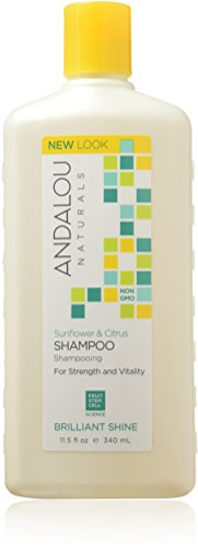 Andalou Naturals Sunflower & Citrus Brilliant Shine Shampoo, 11.5 Ounce
